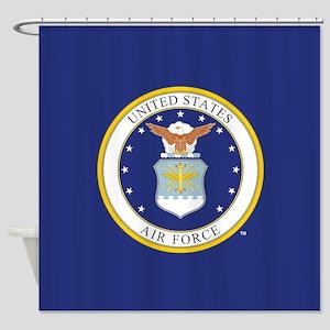 Air Force USAF Emblem Shower Curtain