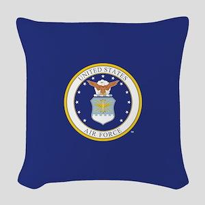 Air Force USAF Emblem Woven Throw Pillow