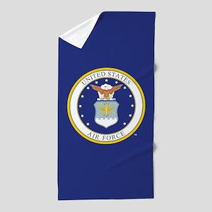 Air Force USAF Emblem Beach Towel