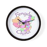 Fengdu China Map Wall Clock