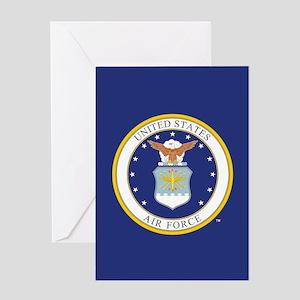 Air Force USAF Emblem Greeting Card