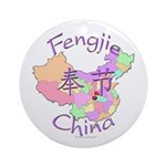 Fengjie China Map Ornament (Round)