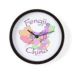 Fengjie China Map Wall Clock