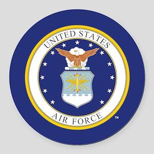 Air Force USAF Emblem Round Car Magnet