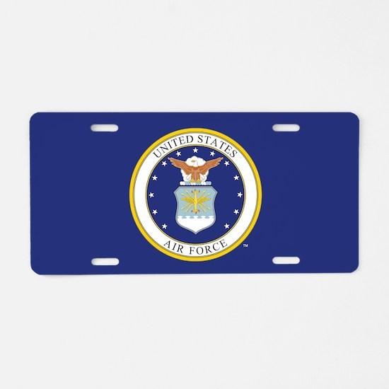 Air Force USAF Emblem Aluminum License Plate