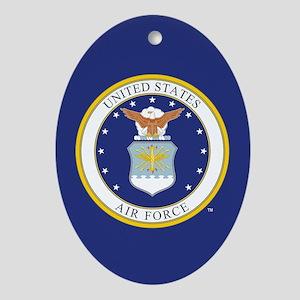 Air Force USAF Emblem Oval Ornament