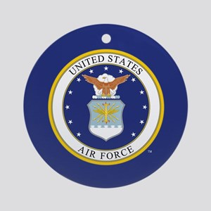 Air Force USAF Emblem Round Ornament