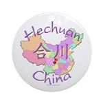 Hechuan China Map Ornament (Round)