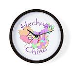 Hechuan China Map Wall Clock