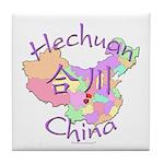 Hechuan China Map Tile Coaster