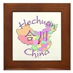 Hechuan China Map Framed Tile