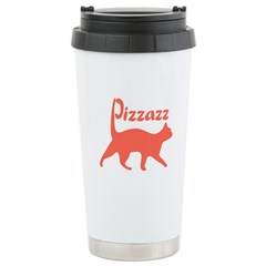 Pizzazz Cat Stainless Steel Travel Mug