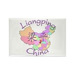 Liangping China Map Rectangle Magnet (10 pack)