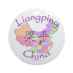 Liangping China Map Ornament (Round)