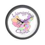 Liangping China Map Wall Clock