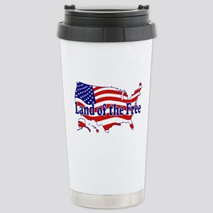 Land of the Free Stainless Steel Travel Mug