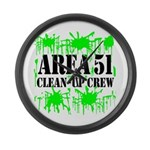 Area 51 Clean-Up Crew Large Wall Clock