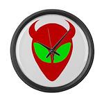 Evil Alien Large Wall Clock