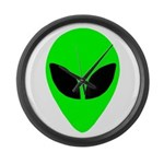Alien Head Large Wall Clock