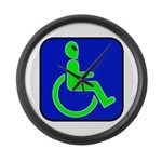 Handicapped Alien Large Wall Clock