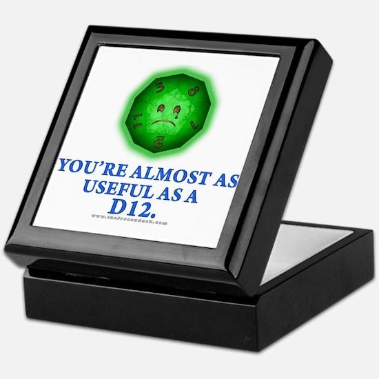 Useful as a a D12 (Green) Keepsake Box