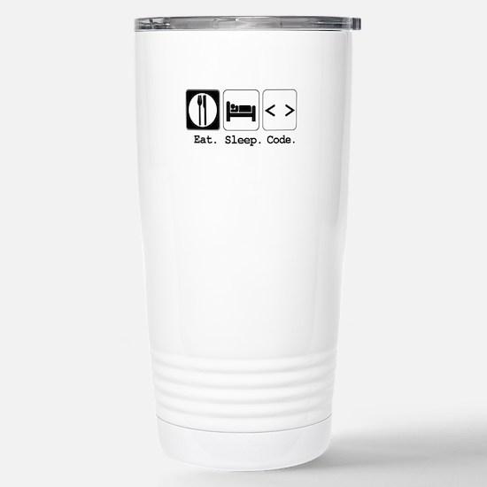 Eat. Sleep. Code. Stainless Steel Travel Mug