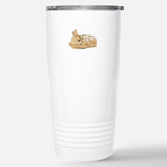 Fawn (Baby Deer) Stainless Steel Travel Mug