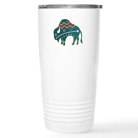 Native Buffalo Design Stainless Steel Travel Mug