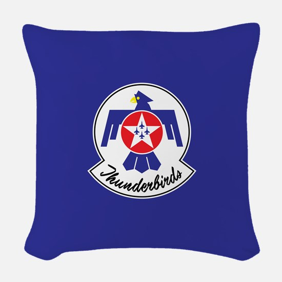 USAF Thunderbirds Emblem Woven Throw Pillow