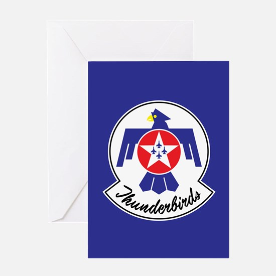 USAF Thunderbirds Emblem Greeting Card
