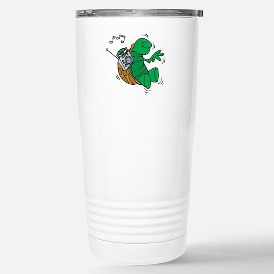 Rockin' Music Turtle Stainless Steel Travel Mug
