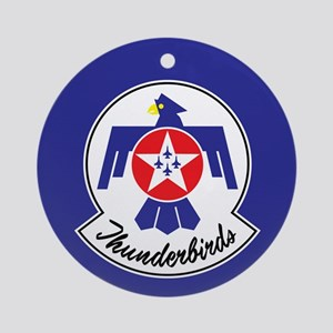 USAF Thunderbirds Emblem Round Ornament