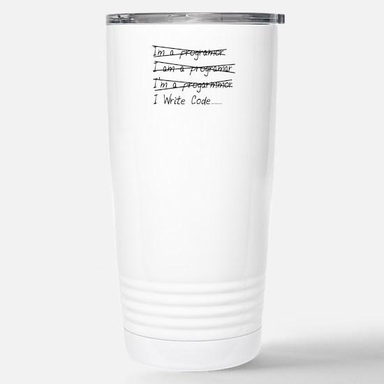 I Write Code Stainless Steel Travel Mug