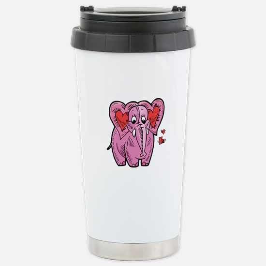 Heart Elephant Stainless Steel Travel Mug