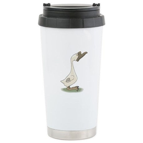 Silly White Goose Stainless Steel Travel Mug