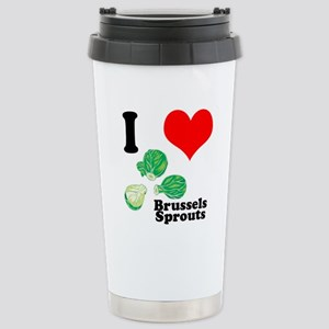 I Heart (Love) Brussels Sprou Stainless Steel Trav