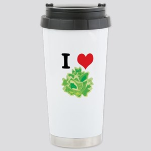I Heart (Love) Lettuce Stainless Steel Travel Mug