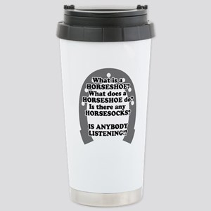 What is a Horseshoe? Stainless Steel Travel Mug