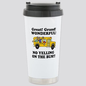 NO YELLING ON THE BUS Stainless Steel Travel Mug