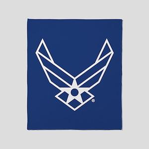 USAF Logo Outline Throw Blanket