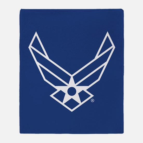 USAF Logo Outline Throw Blanket