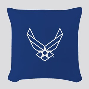 USAF Logo Outline Woven Throw Pillow