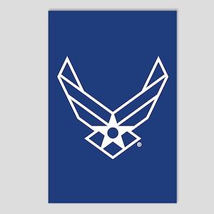 USAF Logo Outline Postcards (Package of 8)