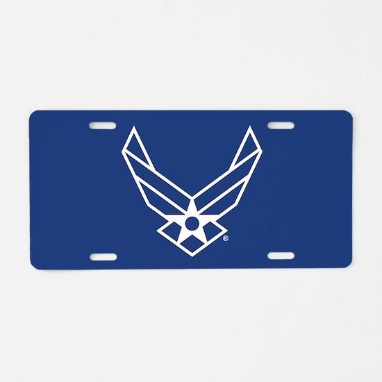 USAF Logo Outline Aluminum License Plate