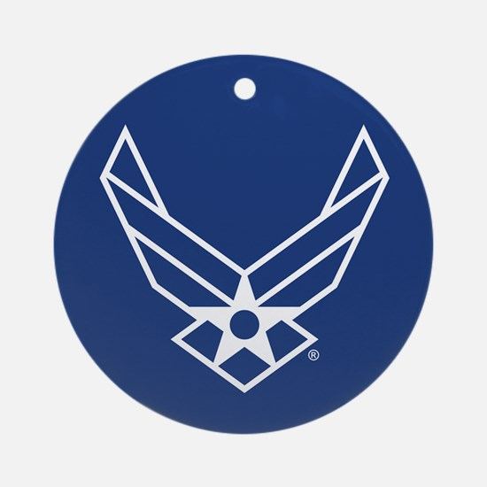 USAF Logo Outline Round Ornament