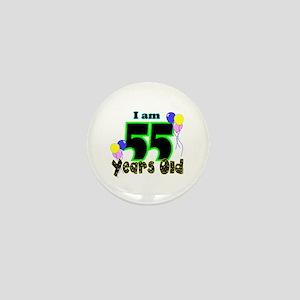 55th Birthday Mini Button