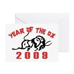 Year of The Ox 2009 Greeting Card