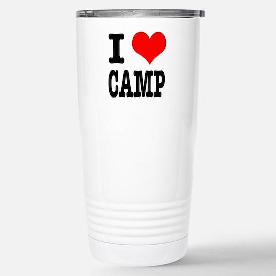 I Heart (Love) Camp Stainless Steel Travel Mug