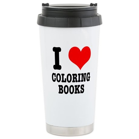 I (Heart) Love Coloring Books Stainless Steel Trav