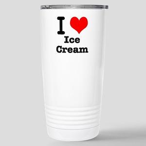 I Heart (Love) Ice Cream Stainless Steel Travel Mu